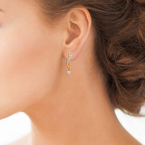 Giantti Diamant Pendentif Femme Collier (0,2CT, qualité HSI, Gh-colour)