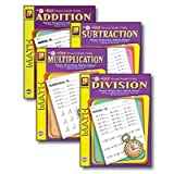 SCBREM5012E-2 - EASY TIMED MATH DRILLS 4 BOOK SET pack of 2