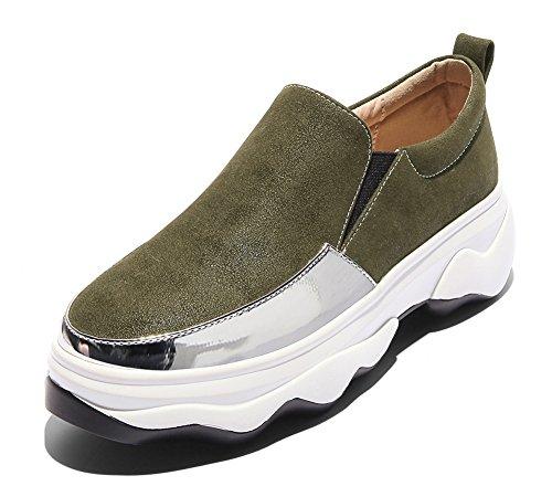 de Chaussures Baskets Enfiler Aisun Sport Respirant Femme à Fermeture x00ntCa
