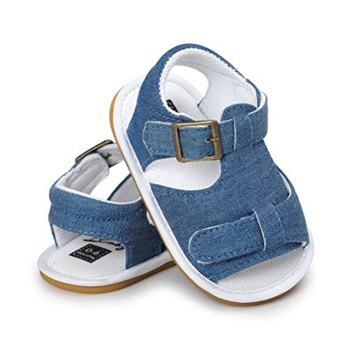 Sandalias de Bebé SMARTLADY Bebé Niño Casual Verano Zapatos Suela Blanda Zapatillas Azul