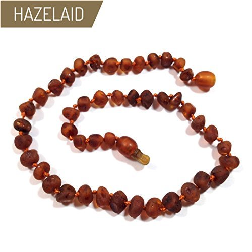 Hazelaid (TM) 14'' Pop-Clasp Baltic Amber Nutmeg Necklace by HAZELAID