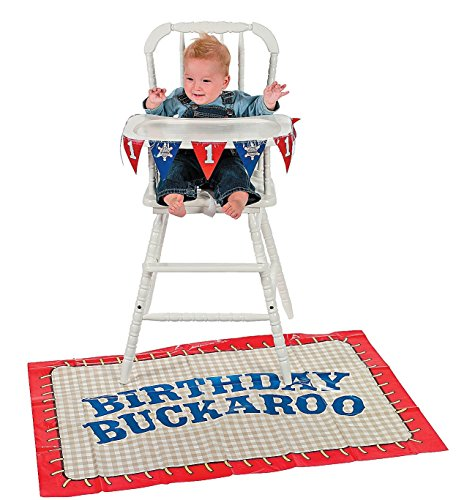 First Birthday Cowboy High Chair Set - Theme Parties & Western