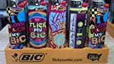 New Special Edition Flick My Bic 30th Anniversary Lighters - 5 Lighters - Color and design maybe vary