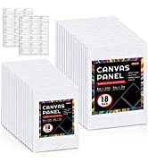 Shuttle Art Painting Canvas Panels, 36 Pack, 5x7, 8x10in (18 of Each), 100% Cotton, Primed White ...