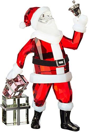 Swarovski Santa Claus Figurine (Buckle Black Leather Faceted Belt)