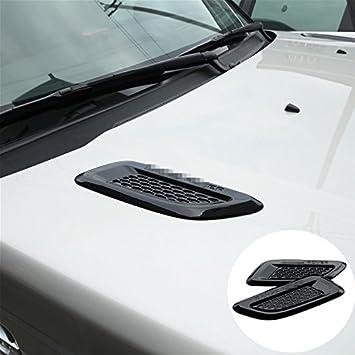 Außen Kapuze Air Vent Outlet Wing Trim Auto Motor Motorhaube Body ...
