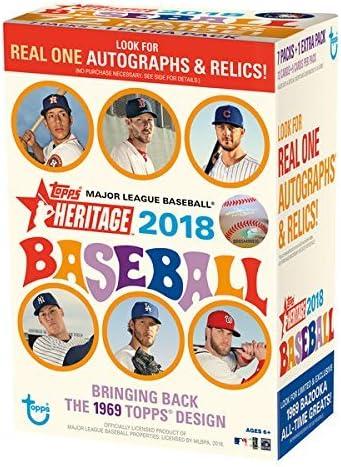 2018 Topps Heritage Baseball Retail Mass Value Box Factory Sealed 8 Pack Box