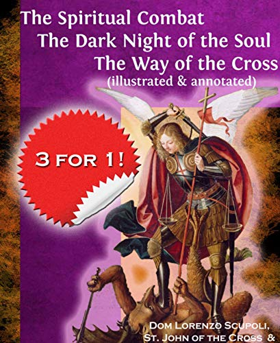 Prayer Scapular Brown - The Spiritual Combat The Dark Night of the Soul The Way of the Cross (illustrated & annotated)