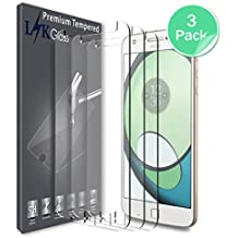 [3 PACK] Motorola Moto Z Play / Moto Z Play Droid Screen Protector, LK Tempered Glass with Lifetime Replacement Warranty