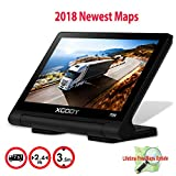 Truckers GPS Navigation Systems, Xgody 709 Commercial GPS Navigation for Car 7 Inch Touch Screen with Lifetime North America Maps 3D/2D Maps Spoken Turn by Turn Directions