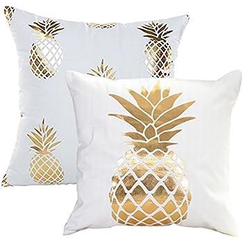 Amazon.com: kxcq Juego de 2 metálico de piña y coco árbol ...