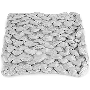 ♕Large Chunky Knitted Thick Blanket Hand Yarn Bulky Knit Throw Sofa Bed Blanket