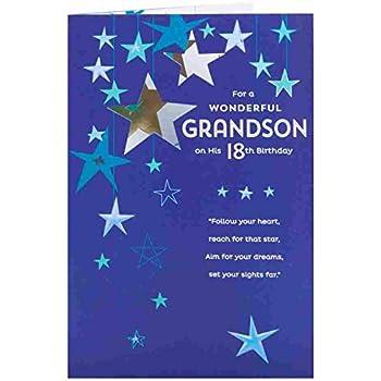 Greeting Card Grandson 18Th Birthday