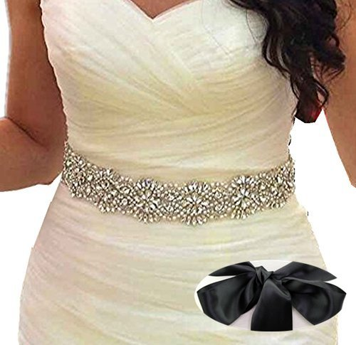 SoarDream black bridal sash Wedding Dress Sash Belt bridal bridesmaid dress sash