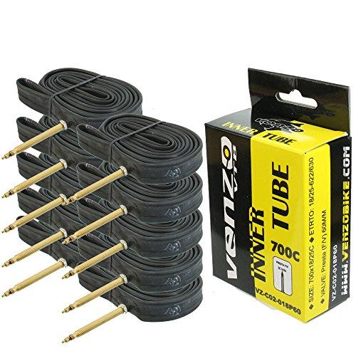Venzo Road Bike Tire Inner Tubes 700c x 18/25 60mm F/V set