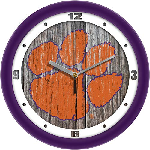 SunTime Clemson Tigers - Weathered Wall Clock ()