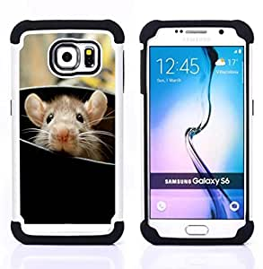 King Case - rat cute rodent peeking big ears animal - Cubierta de la caja protectora completa h???¡¯???€????€?????brido Body Armor Protecci&Atild