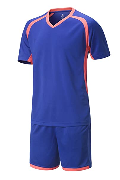 Amazon.com: BOZEVON Kids Mens Quick Dry Football Clothing ...