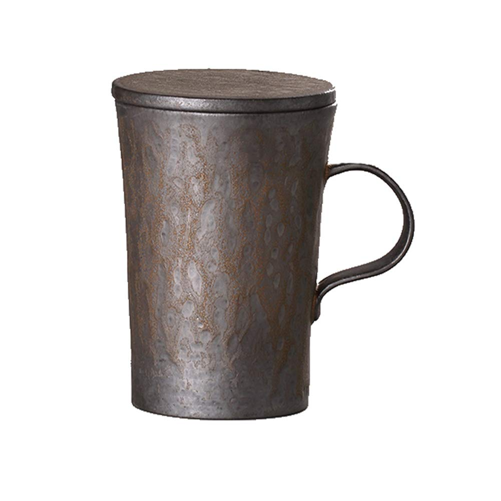 Retro Water Cup High Temperature Fired Solid Wood Handle Surface Sheet Metal by RHH
