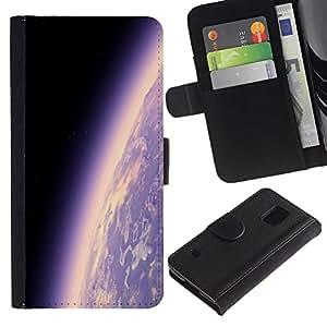 Ihec-Tech / Flip PU Cuero Cover Case para Samsung Galaxy S5 V SM-G900 - Space Planet Galaxy Stars 17