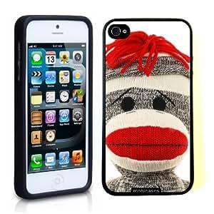 Sock Monkey Face iPhone 5 Case - For iPhone 5/5G Designer TPU Case Verizon AT&T Sprint