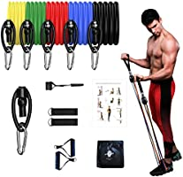 SHEEPSKIN ELITE 11 PCS Resistance Bands Set Exercise Bands with Door Anchor Handles Carry Bag Legs Ankle Straps for...