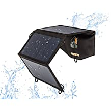 Ryno Tuff Foldable Solar Charger 21W Dual USB Durable, Waterproof - Charge Phones, Battery Packs, Tablets While Camping And Traveling - Highest Efficiency Solar Panels For iPhone/iPad/Galaxy/Nexus etc