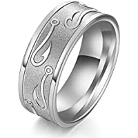 Tungsten Stainless Steel Man Women Wedding Band Size 7-13 Ring Black Gold Silver LOVE STORY nogluck (11, Silver)