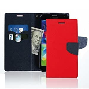 Tapa Funda Con Tapa Para HUAWEI ASCEND P7, Color Rojo Con Cierre Magnético, Diseño de Libro Case