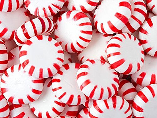 Brach's Peppermint Star Brites Mints Candy 1 Pound Bulk + Bonus Stickers Surprise (Twizzler Cake)