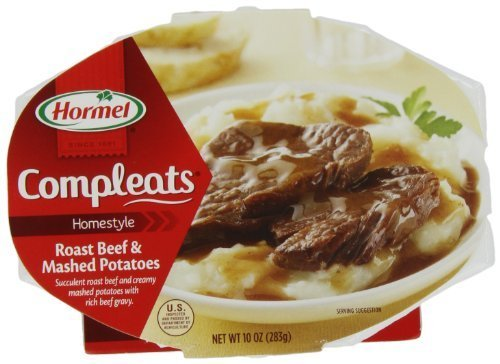 Hormel Compleats Roast Beef   Mash Potatoes  10 Ounce Units  Pack Of 6  By Hormel  Foods