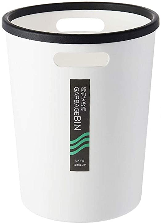 Amazon Com Nydzdm Waste Bin Plastic Bin With Handles Small Office Bin Made Of Durable Plastic Practical Storage Box For Bathroom Kitchen Or Pantry Without Lid Dustbins Sturdy Color White Size