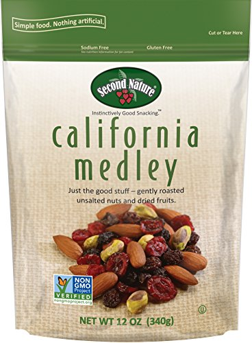 [Second Nature California Medley Trail Mix, 12 Ounce (Pack of 6)] (California Nuts)