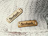 Handmade Leather Labels G Crochet | 15 pcs | Exclusive engraved genuine italian leather tags