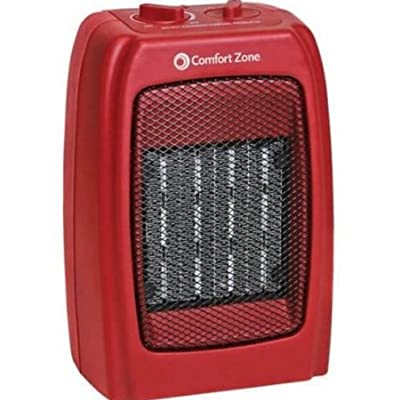 Best Cheap Deal for Red Ceramic Heater Powerful and Compact Portable Device with Fan 1500W 130 sq ft from OEM - Free 2 Day Shipping Available