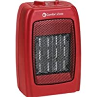 Red Ceramic Heater Powerful and Compact Portable Device with Fan 1500W 130 sq ft
