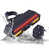 LESOVI X3 Wireless Remote Control Smart Bike TailLight Rear Light Automatic Brake Light with Turn Signal Light USB Rechargeable Safety Flashing Light Fits on Any Road Bicycle (X3)