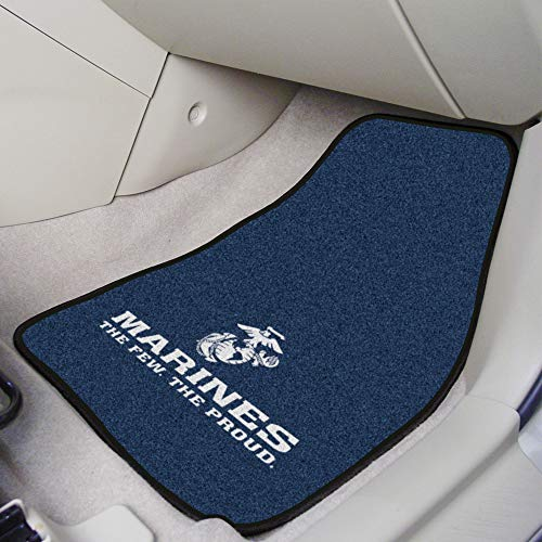 Fanmats Military  'Marines' Nylon Face Carpet Car Mat ()