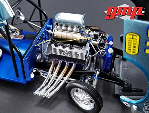 (GMP Engine and Transmission Replica 427 Blown SOHC Gasser Ohio George\'s 1967 Ford Mustang 1/18)