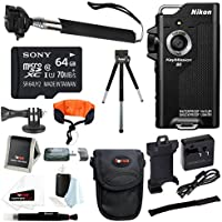 Nikon KeyMission 80 Action Camera with 64GB Card + Selfie Stick + Accessory Kit