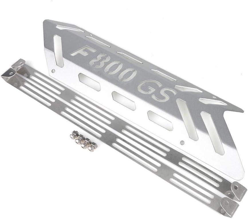 Color : Silver LIWIN Moto Accesorios For BMW F800GS GSA F800 GS F 800 Protector de aventura de escape Cubierta de protecci/ón de la Guardia de aleaci/ón de aluminio accesorios de la motocicleta