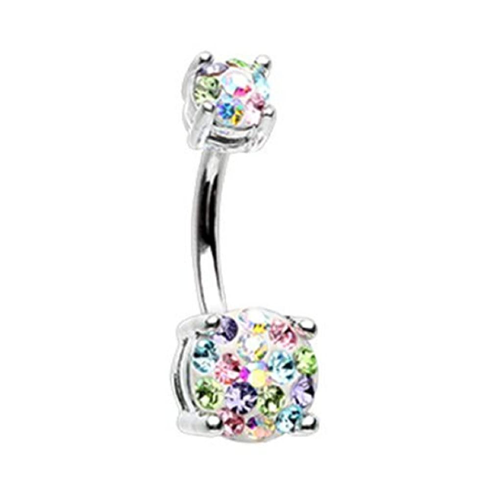 Pink Sugar Skull 316L Surgical Steel Dangle Freedom Fashion Navel Ring