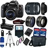 Canon EOS Rebel T6i DSLR Camera w/EF-S 18-55mm f/3.5-5.6 IS II Lens + Professional Accessory Kit