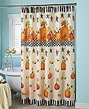 Primitive Pumpkin & Stars Fall Autumn Bathroom Shower Curtain Bath Decor (shower curtain)