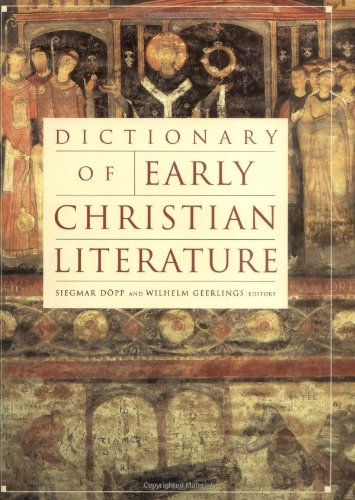 Download Dictionary of Early Christian Literature (A Herder & Herder Book) ebook