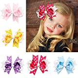 Kewl Fashion Girl's Lovely Polka Dot Swallowtail Style Bowknot Children Hair Clip (5 pcs)