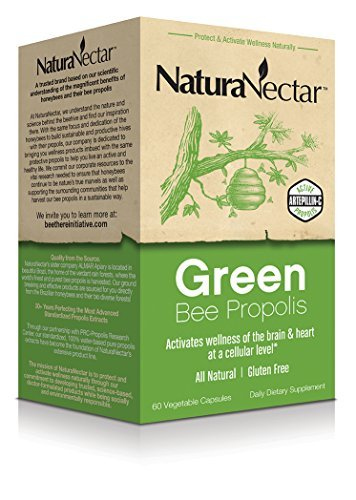 NaturaNectar Green Bee Propolis, 60 caps by Natural Nectar by Natural Nectar