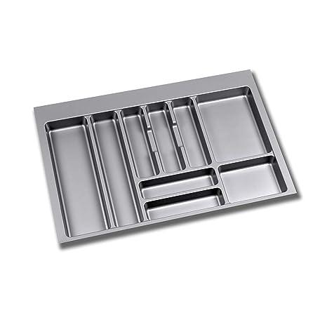 EMUCA - Cubertero Recortable para cajón, Bandeja para Cubiertos cajón Ancho módulo 80cm