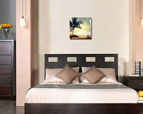 Vintage Retro Style Grunge Palm Tree Home Deoration Wall Decor ing