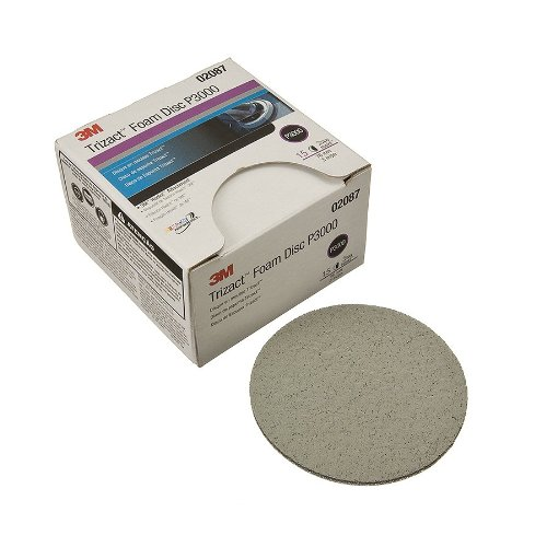 3M 02087 Trizact Hookit 3'' P3000 Grit Foam Disc (Pack of 4)